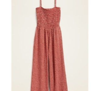 NWT old navy red polka dot jumpsuit